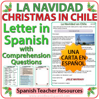 Christmas in Chile - Letter in Spanish with Comprehension Activities