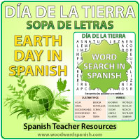 Día de la Tierra - Sopa de Letras - Earth Day in Spanish Word Search - Spanish Teacher Resource.