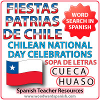 Las Fiestas Patrias de Chile - Sopa de Letras - Chilean National Day Word Search