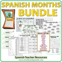Dias y Meses Vocabulario en Español - Days and Months in Spanish