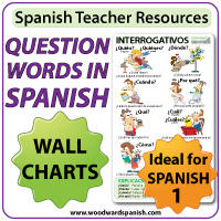 Question Words in Spanish Wall Chart and Flash Cards - Spanish Teacher Resources