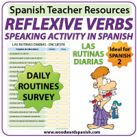 Spanish Reflexive Verbs - Speaking Activity - Verbos reflexivos en español