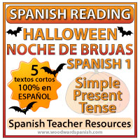 Spanish 1 Reading Texts about Halloween