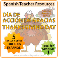 Spanish 1 Reading Passages about Thanksgiving - Lecturas del Día de Acción de Gracias