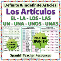 Spanish Articles Worksheets