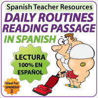 Spanish Daily Routines Reading Passage