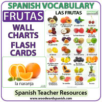 Spanish Vocabulary - Fruit: Flash Cards and Chart