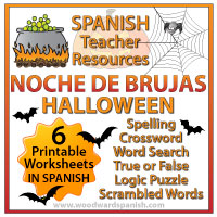 Spanish Halloween Worksheets and Activities Pack