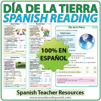 Día de la Tierra - Lecturas Cortas - Spanish Reading Passages about Earth Day
