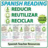 Lecturas acerca de Reducir, Reutilizar y Reciclar - Spanish Reading Passages